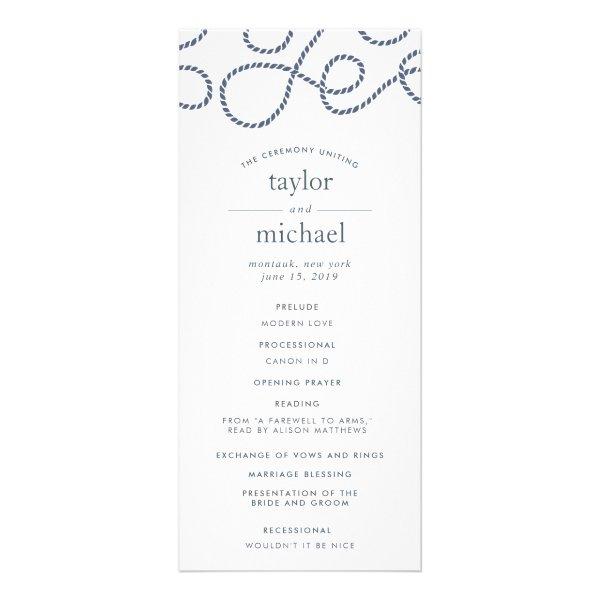 Seaworthy Wedding Ceremony Program | White