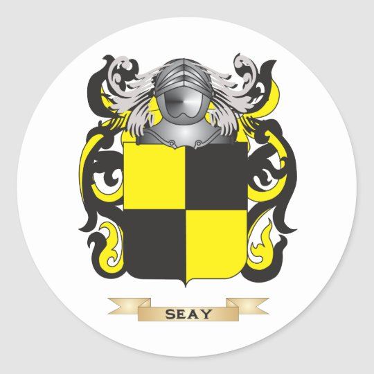 Seay Coat of Arms (Family Crest) Classic Round Sticker