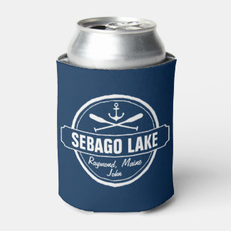 SEBAGO LAKE MAINE PERSONALIZED TOWN AND NAME CAN COOLER