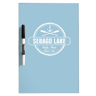 Sebago Lake Maine Personalized Town and Name Dry-Erase Board