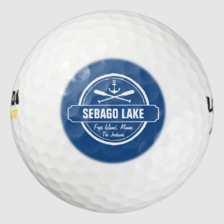 Sebago Lake Maine Personalized Town and Name Golf Balls