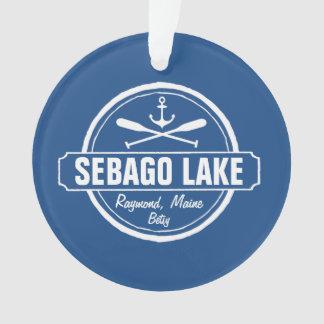 SEBAGO LAKE MAINE PERSONALIZED TOWN AND NAME ORNAMENT