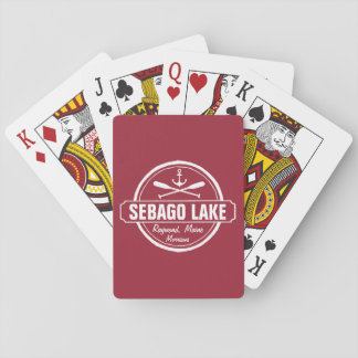 SEBAGO LAKE MAINE PERSONALIZED TOWN AND NAME PLAYING CARDS