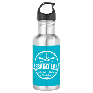 SEBAGO LAKE MAINE PERSONALIZED TOWN AND NAME STAINLESS STEEL WATER BOTTLE