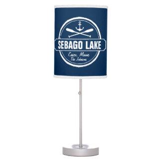 SEBAGO LAKE MAINE PERSONALIZED TOWN AND NAME TABLE LAMP