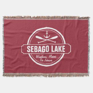 SEBAGO LAKE MAINE PERSONALIZED TOWN AND NAME THROW