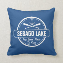 SEBAGO LAKE MAINE PERSONALIZED TOWN AND NAME THROW PILLOW