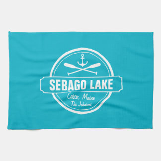 SEBAGO LAKE MAINE PERSONALIZED TOWN AND NAME TOWEL