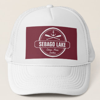Sebago Lake Maine Personalized Town and Name Trucker Hat