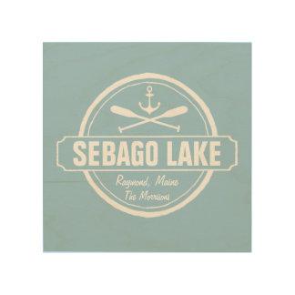 Sebago Lake Maine Personalized Town and Name Wood Print