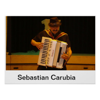 Sebastian Carubia rocks accordion Poster