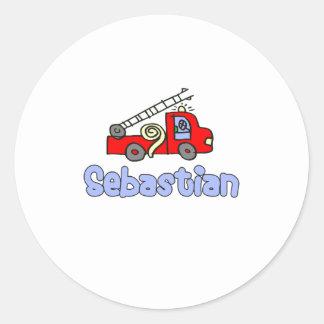 Sebastian Classic Round Sticker