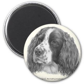 Sebastian, English Springer Spaniel 2 Inch Round Magnet