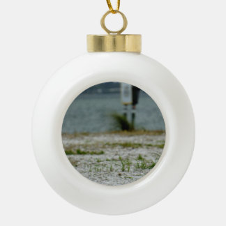 Sebastian Inlet Sanctuary Ceramic Ball Christmas Ornament