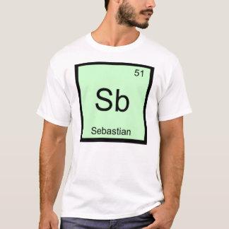 Sebastian Name Chemistry Element Periodic Table T-Shirt