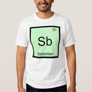 Sebastian Name Chemistry Element Periodic Table Tee Shirt
