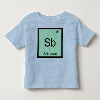 Sebastian Name Chemistry Element Periodic Table Toddler T-shirt