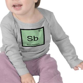 Sebastian Name Chemistry Element Periodic Table T Shirts