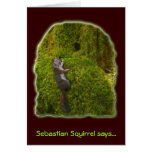 SEBASTIAN SQUIRREL Note Cards Greeting Card