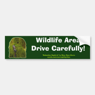 SEBASTIAN SQUIRREL Safety Bumper Sticker