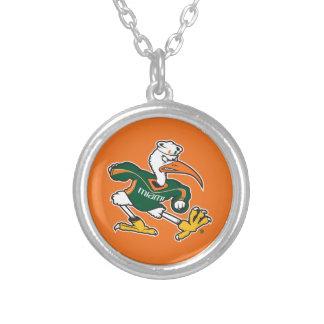 Sebastian The Ibis Round Pendant Necklace