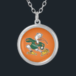 """Sebastian The Ibis Silver Plated Necklace<br><div class=""""desc"""">Get all of the best University of Miami gear at Zazzle.com! Support the Hurricanes in style with these products that are perfect for students, alumni, family, and fans. All of these products are customizable with your name, your sport, or your class year. Represent the U by sporting Green and Orange...</div>"""