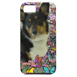 Sebastian the Welsh Corgi in Butterflies iPhone 5 Case