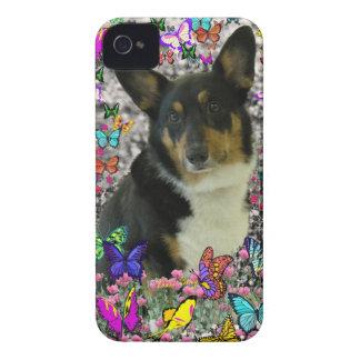 Sebastian the Welsh Corgi in Butterflies Case-Mate iPhone 4 Case