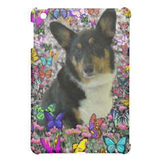 Sebastian the Welsh Corgi in Butterflies Cover For The iPad Mini