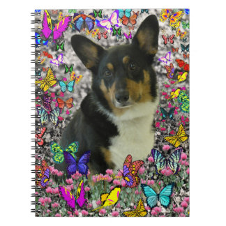Sebastian the Welsh Corgi in Butterflies Notebook