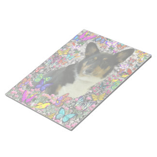 Sebastian the Welsh Corgi in Butterflies Notepad