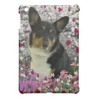 Sebastian the Welsh Corgi in Flowers iPad Mini Covers
