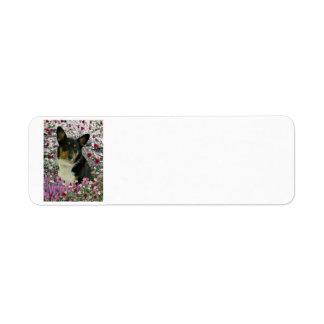 Sebastian the Welsh Corgi in Flowers Custom Return Address Label