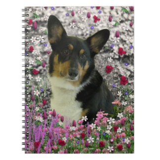 Sebastian the Welsh Corgi in Flowers Notebook