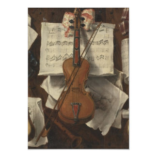Sebastiano Lazzari Trompe - Violin and Music Notes Card