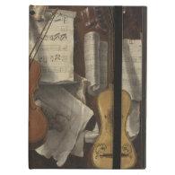 Sebastiano Lazzari Trompe - Violin and Music Notes iPad Folio Cases