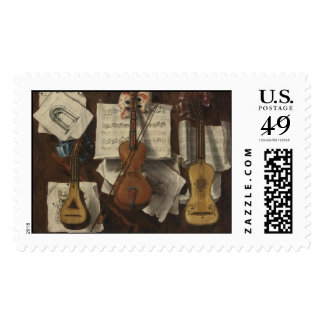 Sebastiano Lazzari Trompe - Violin and Music Notes Postage Stamp