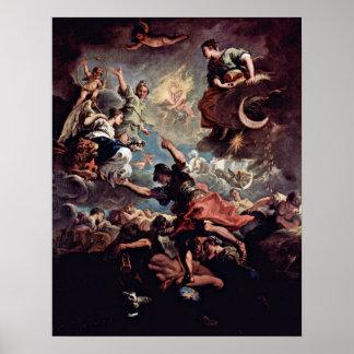 Sebastiano Ricci - alegoría de Toscana Póster