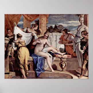 Sebastiano Ricci - Bathsheba en su baño, Póster