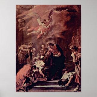 Sebastiano Ricci - comunión de los apóstoles Póster