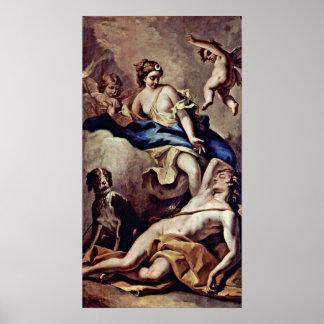 Sebastiano Ricci - Selene and Endymion, Poster