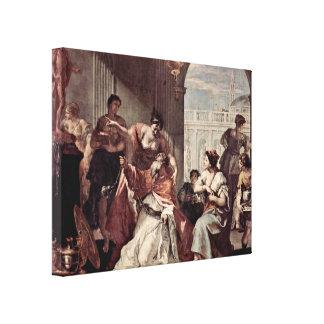Sebastiano Ricci - Solomons idolatry Gallery Wrap Canvas