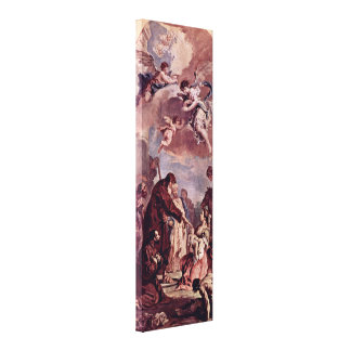 Sebastiano Ricci - StFrancis brought dead child Gallery Wrapped Canvas