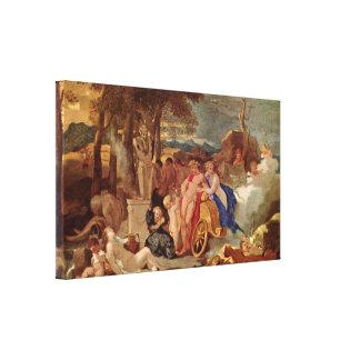 Sebastien Bourdon - Bacchus and Ceres Stretched Canvas Prints