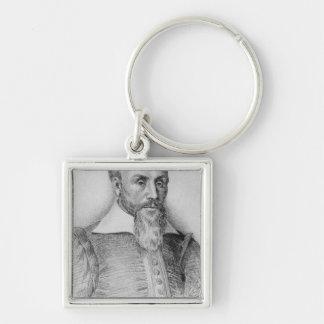 Sebastien Castellion Silver-Colored Square Keychain