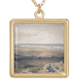 Sebastopol from the East, plate from 'The Seat of Gold Plated Necklace