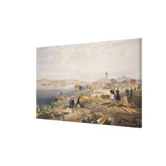 Sebastopol from the Rear of Fort Nicholas, plate f Canvas Print