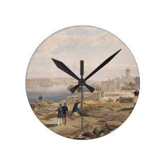 Sebastopol from the Rear of Fort Nicholas, plate f Round Clock
