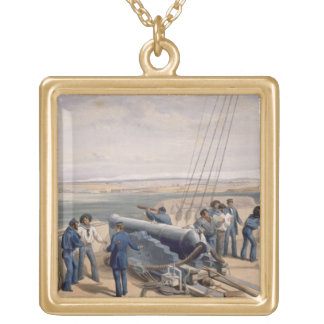Sebastopol from the Sea, plate from 'The Seat of W Gold Plated Necklace