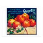 Sebastopol Gravensteins Apple LabelSonoma, CA Postcard